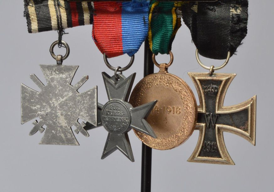 Central Powers: Great War medals mounted as two groups, the first comprising Iro…