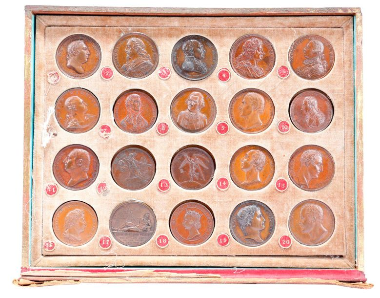 A group of forty bronze medals, comprising sixteen from James Mudie's cased seri…