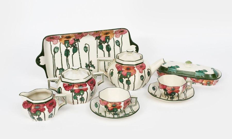 A large collection of Royal Doulton Poppies B, Series Ware designed by Charles N…
