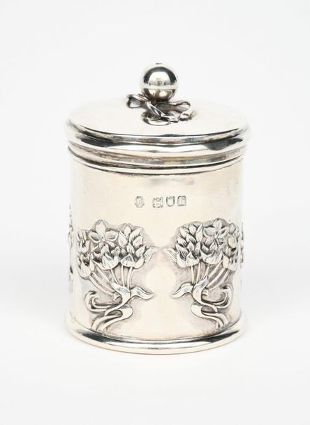 An Arts and Crafts William Hutton silver string box and cover designed by Kate H…