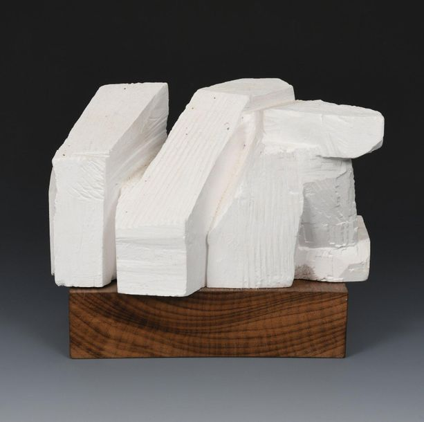 ‡ Keith Newstead (born 1943) Big Fine Woman plaster maquette for large carving, …