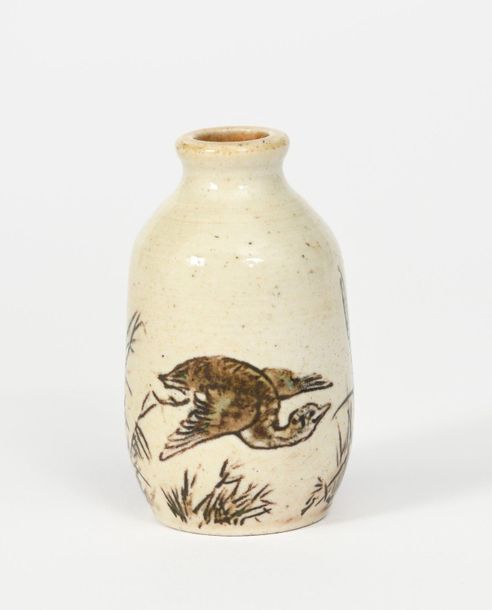 A Martin Brothers stoneware miniature vase by Edwin and Walter Martin, dated 190…