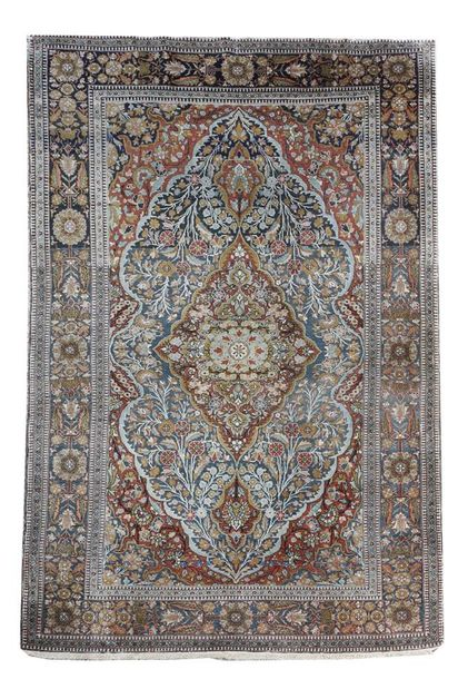 A fine Kashan rug, worked with kurk wool, Central Persia, late 19th / early 20th…