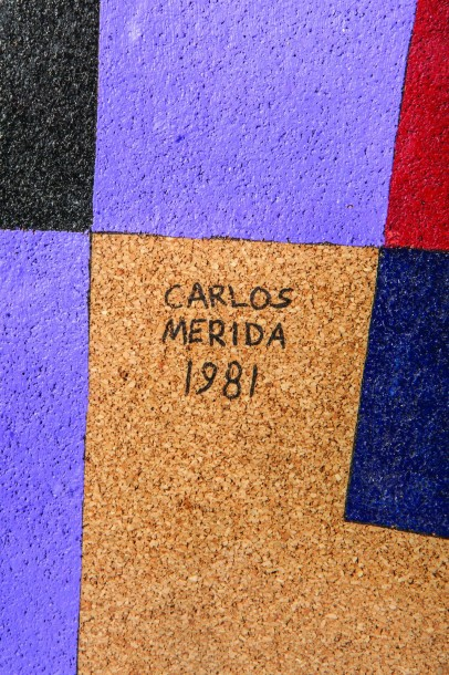 Carlos MERIDA -(Guatemala 1891- Mexique 1984) Composition abstraite - Technique…
