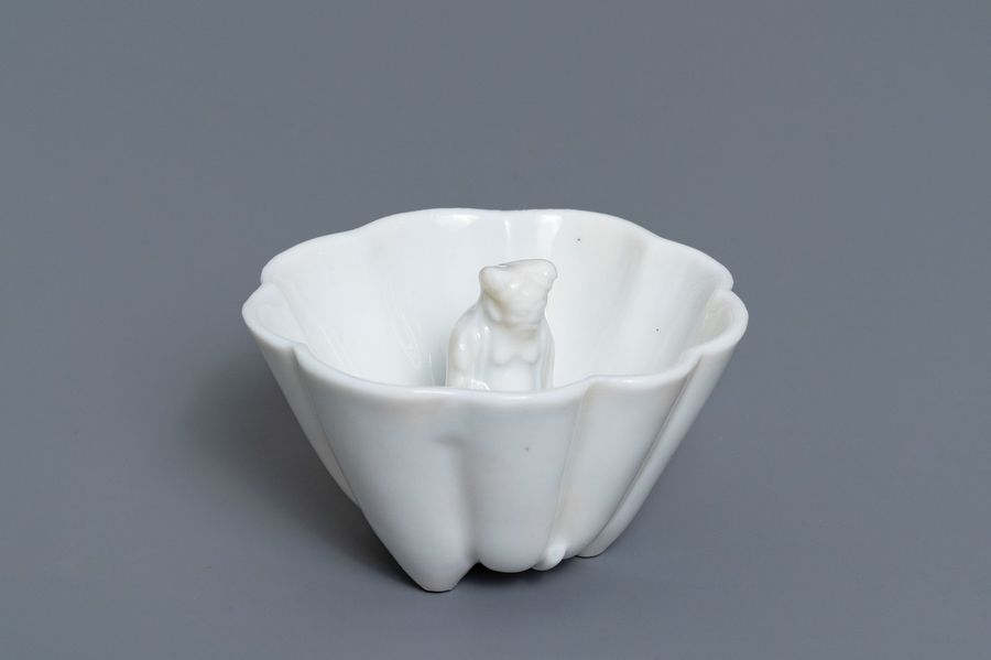 A Chinese blanc de Chine 'Lu Hong Jian' puzzle cup, Transitional period A Chines…