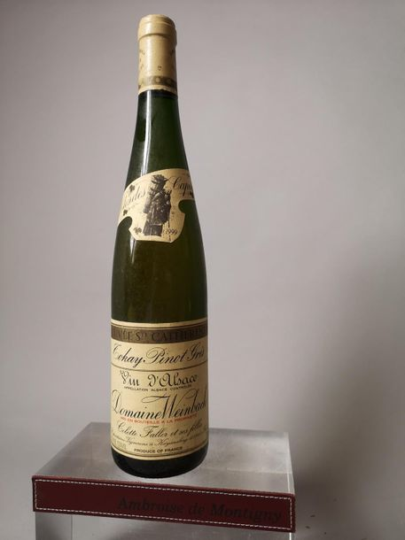 """2 bouteilles WEINBACH """"Clos des Capucins"""" TOKAY PINOT GRIS  1 CUVEE LAURENCE 1999…"""