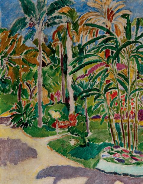 CAMOIN (Charles). 1879-1965 Jardin à Grenade. 1907; huile sur toile; env. 46,5 x…