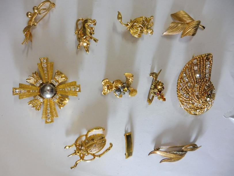 10 BROCHES divers