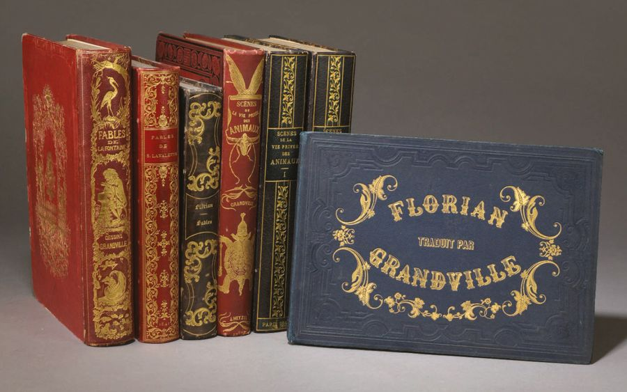 [GRANDVILLE Jean Jacques] Fables de La Fontaine. Paris, Furne, 1847; grand in-8,…