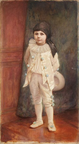 Gustave COURTOIS (1853-1923) Gustave COURTOIS (1853-1923)  Jeune enfant, 1914  Huile…