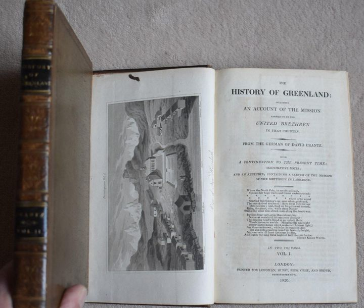 David CRANTZ, The History of Greenland, 2 vol. In 8, reliure d'époque, Londres 1…