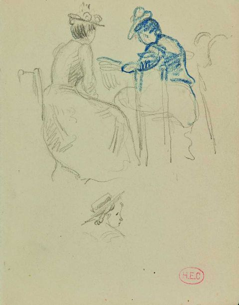 Henri-Edmond CROSS (1856-1910) : Important ensemble de croquis, environ 164 ff.…