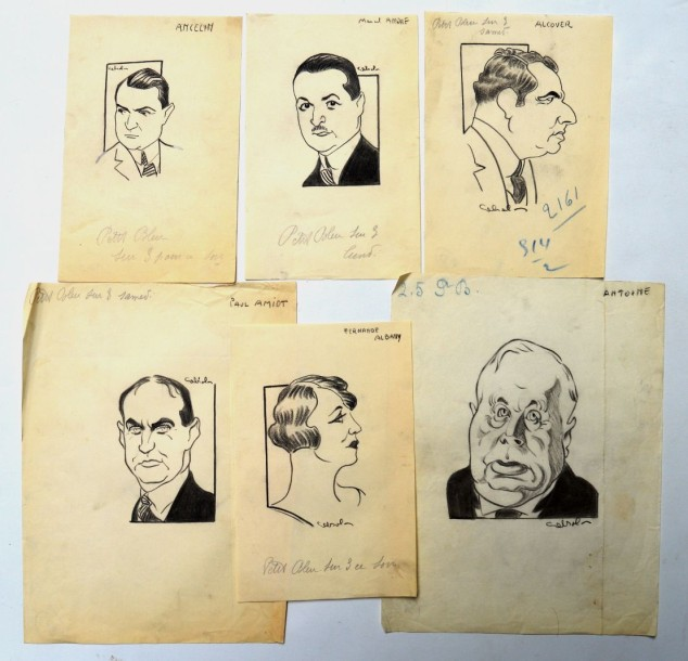 Raoul CABROL (1898-1956) : 6 dessins : CABROL : ALBANY Fernande (1889-1966), actrice…