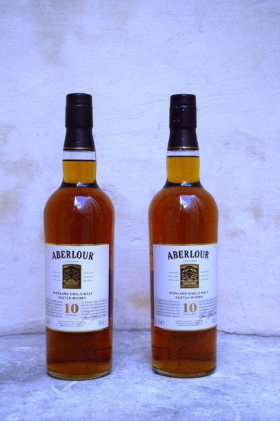 "2 bouteilles SCOTCH WHISKY ""Highland Single Malt"", Aberlour"