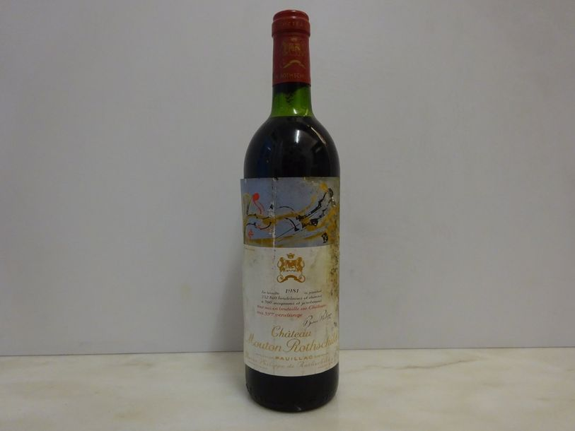 1 bouteille CH. MOUTON-ROTHSCHILD, 1° cru Pauillac 1981