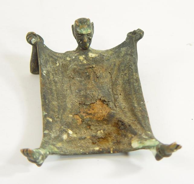 Coupe en bronze: «Diable» 16 x 11 cm