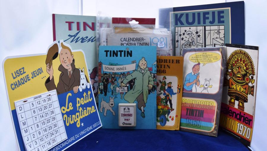 Calendriers divers. Lot regroupant les calendriers Tintin 1966, 1969, 1970, 1981,…