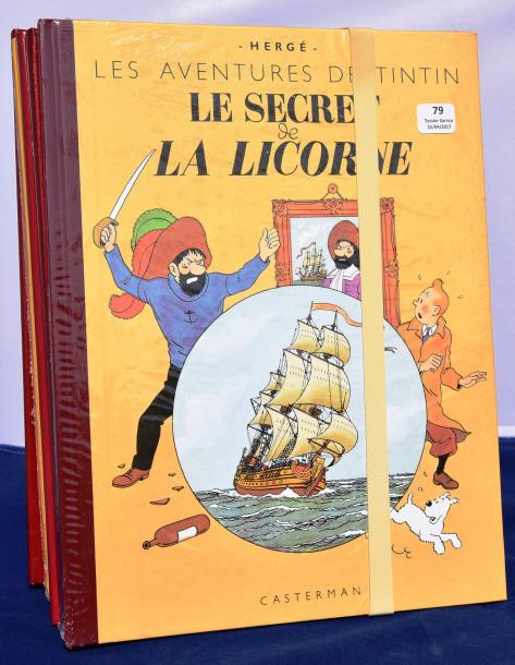 «Tintin» 15 albums fac similé. Editions fac similé couleurs. Oreille - Temple -…