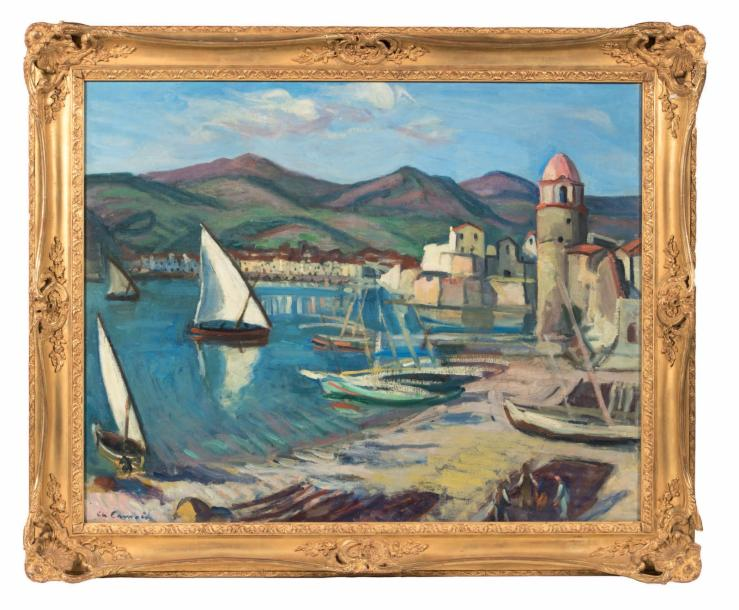 Charles CAMOIN (1879-1965) Tartanes à Collioure n°2, 1912 Huile sur toile, ancien…