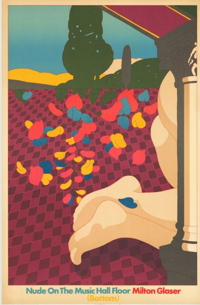 Milton GLASER - 1978 Top and bottom - Nudes on the music hall floor top - 2 Affiches…