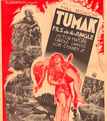 Tumak, fils de la jungle / One million B.C Scénario affichette 1940 illustré par…