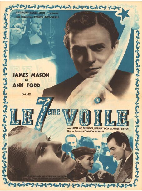 Le septieme voile / The seventh veil (1945) Scénario Affichette Etat A