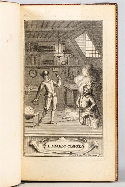 [LE SAGE]. Le Diable boiteux. Paris, Veuve Barbin, 1707. In-12, maroquin rouge,…