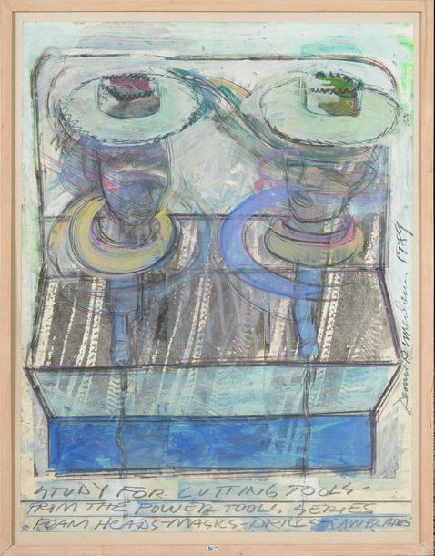 "OPPENHEIM Dennis (1938 2011) ""Study for the cutting tools"" gouache et aquarelle …"