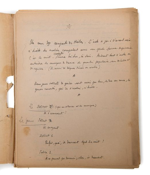 COCTEAU JEAN MANUSCRIT autographe, [La Machine infernale], 1932; 90 feuillets in-fol.…