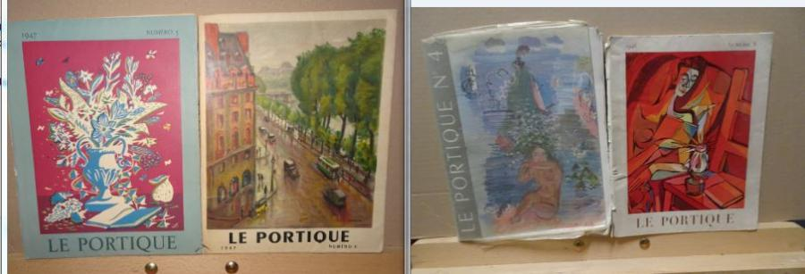 LE PORTIQUE,  4 VOL Editions Rombaldi 1947.  Accidents.