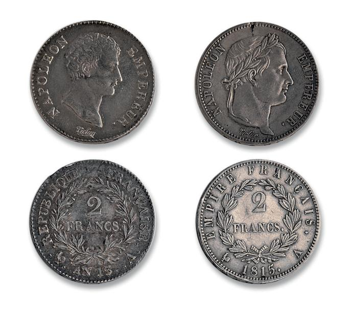 Premier Empire (1804-1814): 2 francs. An 13. Paris. Période des Cents Jours (20…