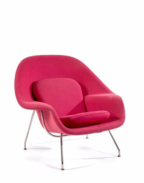Eero SAARINEN (1910-1961) & Knoll International Ed.Fauteuil 70MC dit Womb chair.…