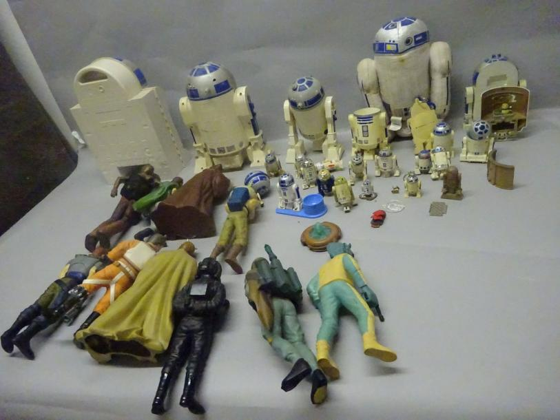 STAR WARS  Lot de 10 Figurines Vinyl Applause + Lot de R2-D2.  1995 et +.  Etat…