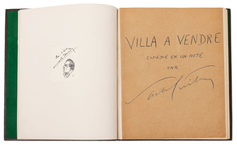 GUITRY SACHA (1885-1957) Villa à vendre. Manuscrit autographe signe [1931]. 43 pages…
