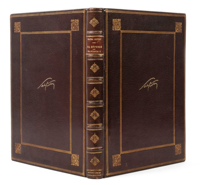 GUITRY SACHA (1885-1957) Ma Défense. Manuscrit autographe. Circa 1944. 61 pages in-4.…