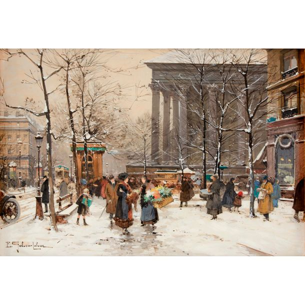 Eugène Galien Laloue (French, 1854–1941) Paris, Place de la Madeleine, Signed 'E…