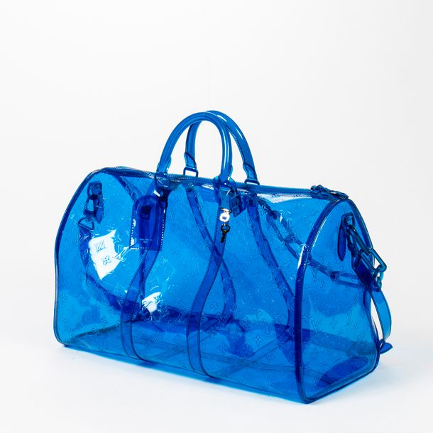 "LOUIS VUITTON Virgil Abloh Sac de voyage ""Keepall"" 50 ""Keepall"" 50 travel bag Ed…"