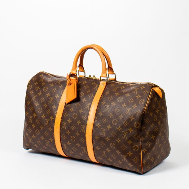"LOUIS VUITTON Sac de voyage ""Keepall 50 """"Keepall 50"" travel bag Toile Monogram,…"