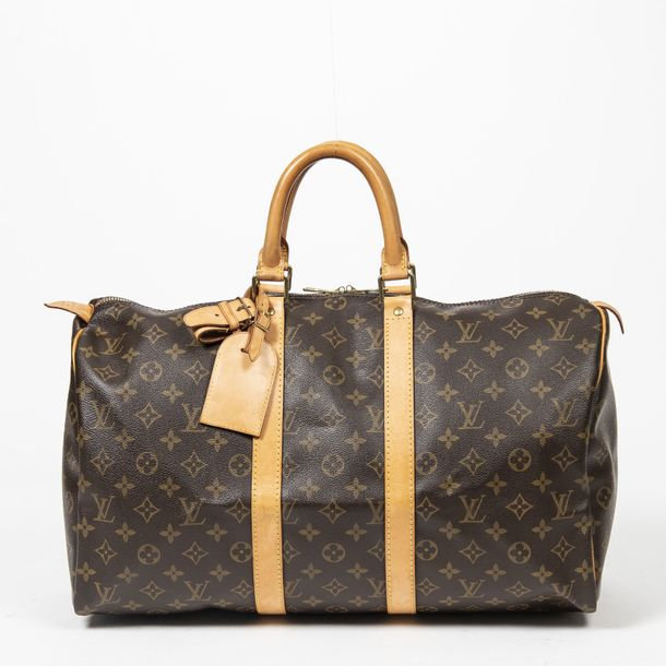 "LOUIS VUITTON Sac de voyage ""Keepall"" 45 ""Keepall"" 45 travel bag Toile Monogram,…"