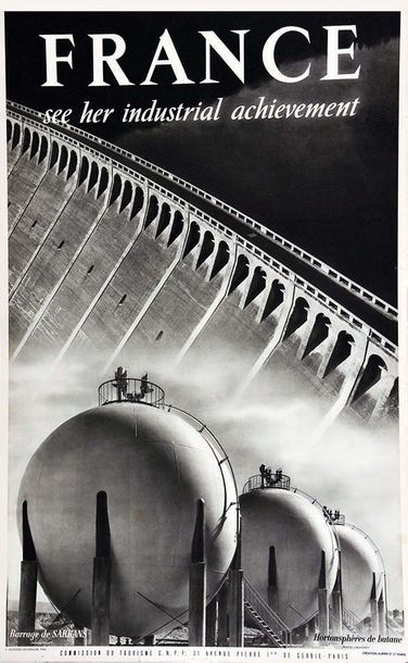 LACHEROY Barrage de Sarrans France see her Industrial Achievement vers 1950 E. D…