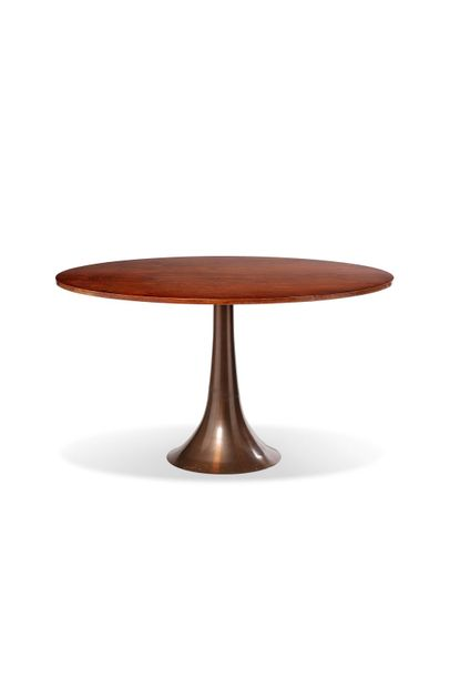 Angelo MANGIAROTTI (1921 2012) Table, circa 1960 Edition Bernini Piètement en br…