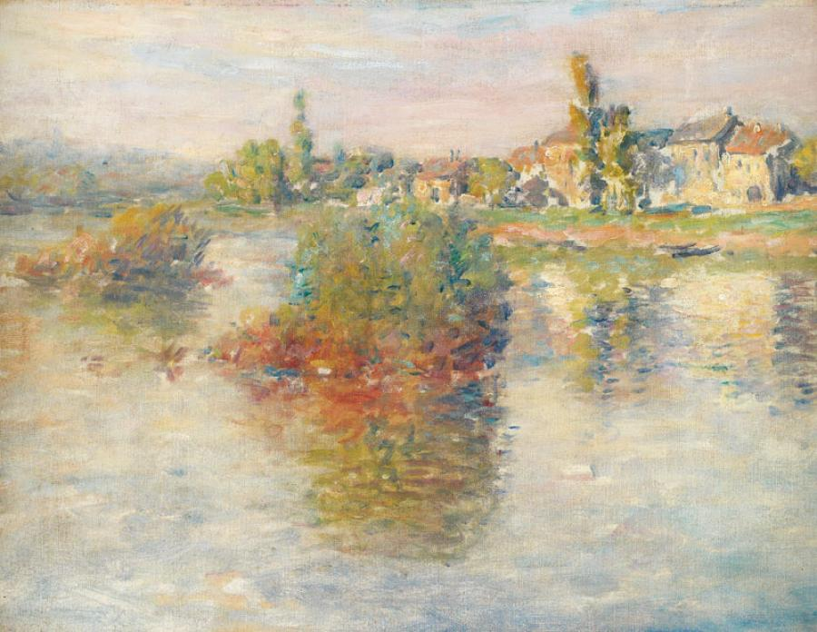 Claude MONET (Paris 1840 - Giverny 1926) La Seine à Lavacourt, 1879 Toile 46 x 61…