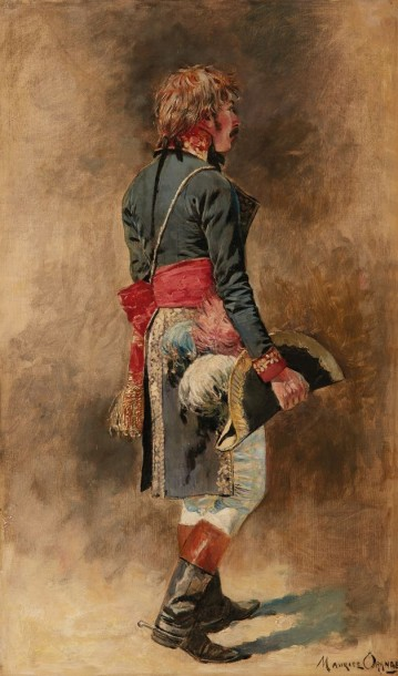 Maurice Henri ORANGE (Granville 1867 - Paris 1916) Soldat d'Empire  Huile sur toile…