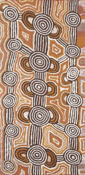 Barney Campbell Tjakamarra			 (1928 - 2007)  Cycle Tingari, 1998  Acrylique sur…