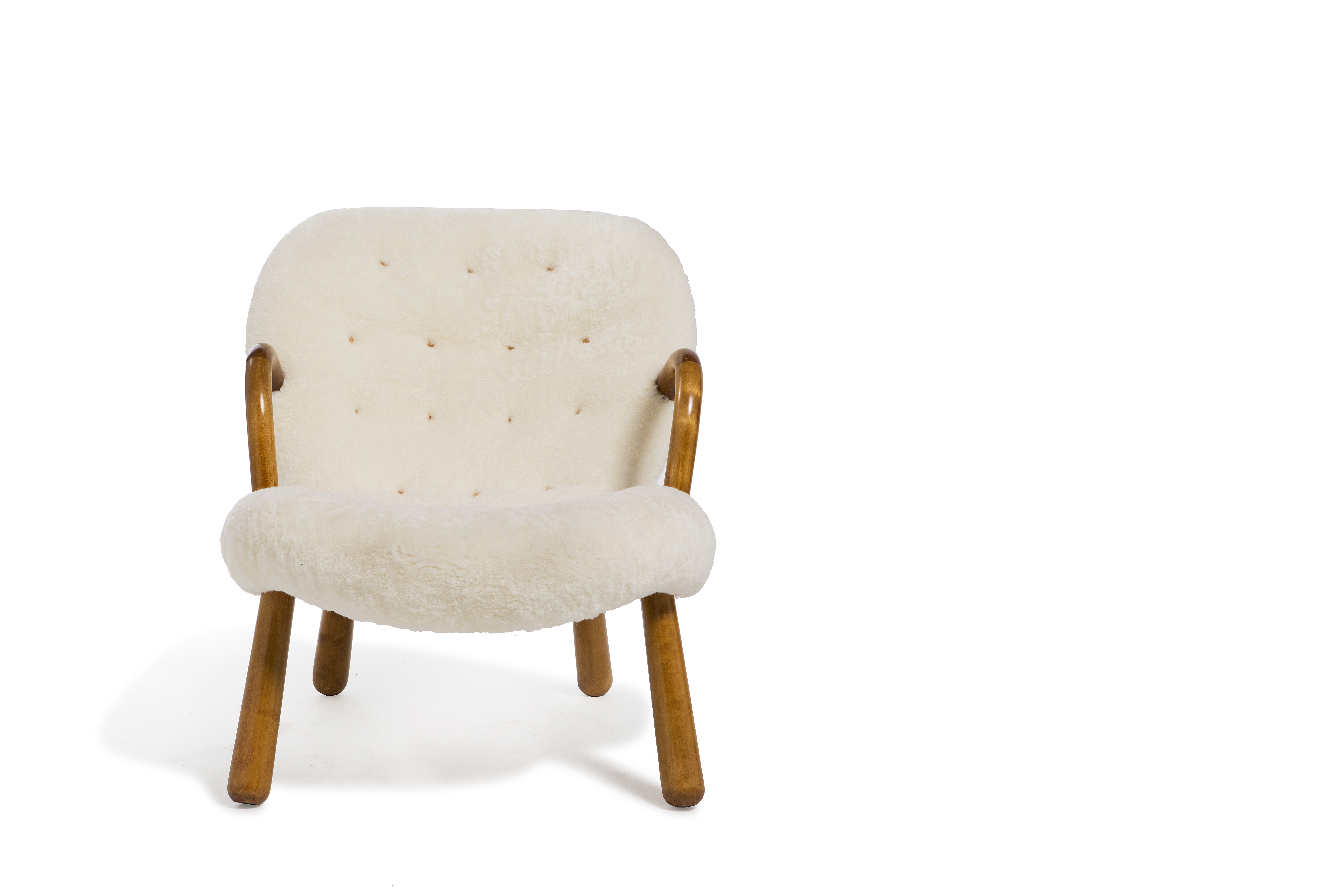 """Philip ARCTANDER (1916 - 1994)  Fauteuil """"Clam"""", circa 1938  Edition Nordisk Staal…"""