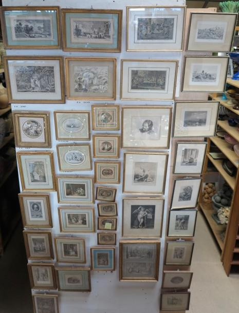 Tableaux - Dessins - Icones Lot de reproductions et gravures
