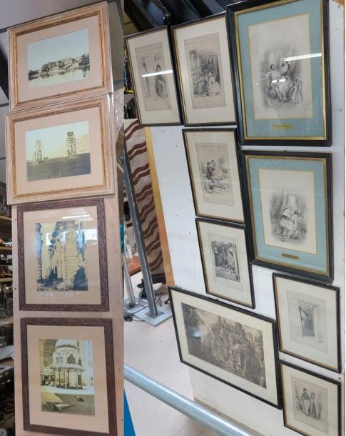Tableaux - Dessins - Icones Lot de photos et reproductions diverses représentant…