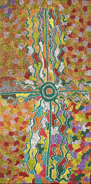 Molly Martin Napangardi et Lorna Williams	 Jajutuma Jukurrpa (Caterpillar Dreaming)…