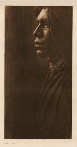 "Edward S. CURTIS (1868-1952) ""The Yuma"", 1907 Photogravure d'époque, crédit, date…"