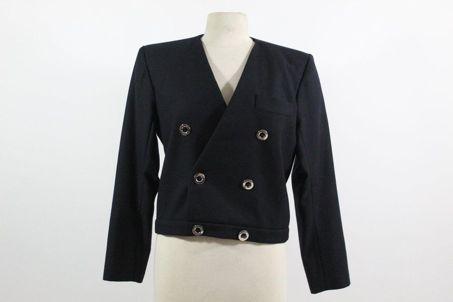 YVES SAINT LAURENT YVES SAINT LAURENT Rive Gauche  Iconique blazer bleu marine à…